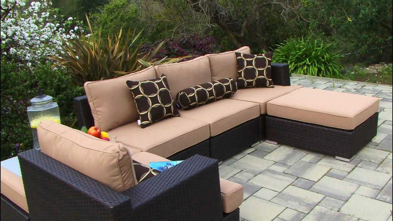 Niko 6 Piece Sectional Patio Set By Sirio   YouTube