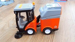 Подметальная машина Мусоровоз Обзор игрушек машинок Видео для детей про машинки игрушки