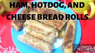 HOW TO MAKE HAM HOTDOG AND CHEESE BREAD ROLLS (Sarap!)  Honey&#39s Recipe #1