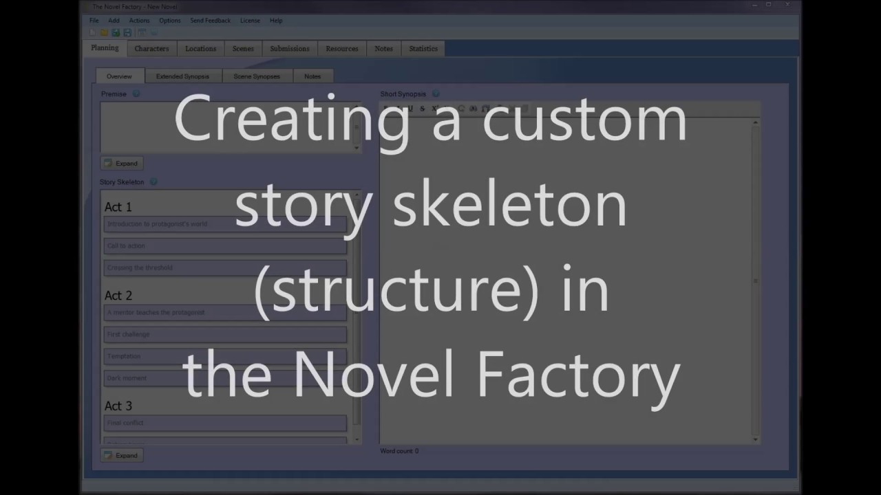 novel factory templates