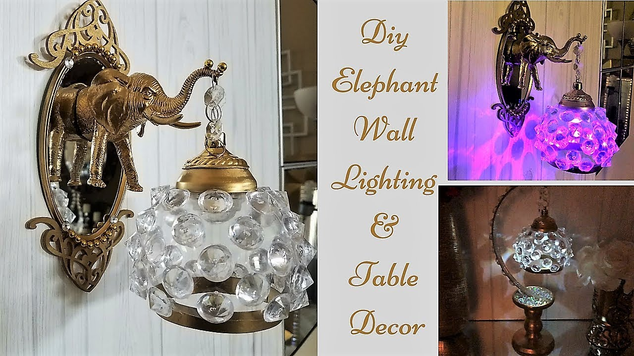 Diy Dollar Tree Wall and Table Lighting Decor| Inexpensive Home Decor ideas!