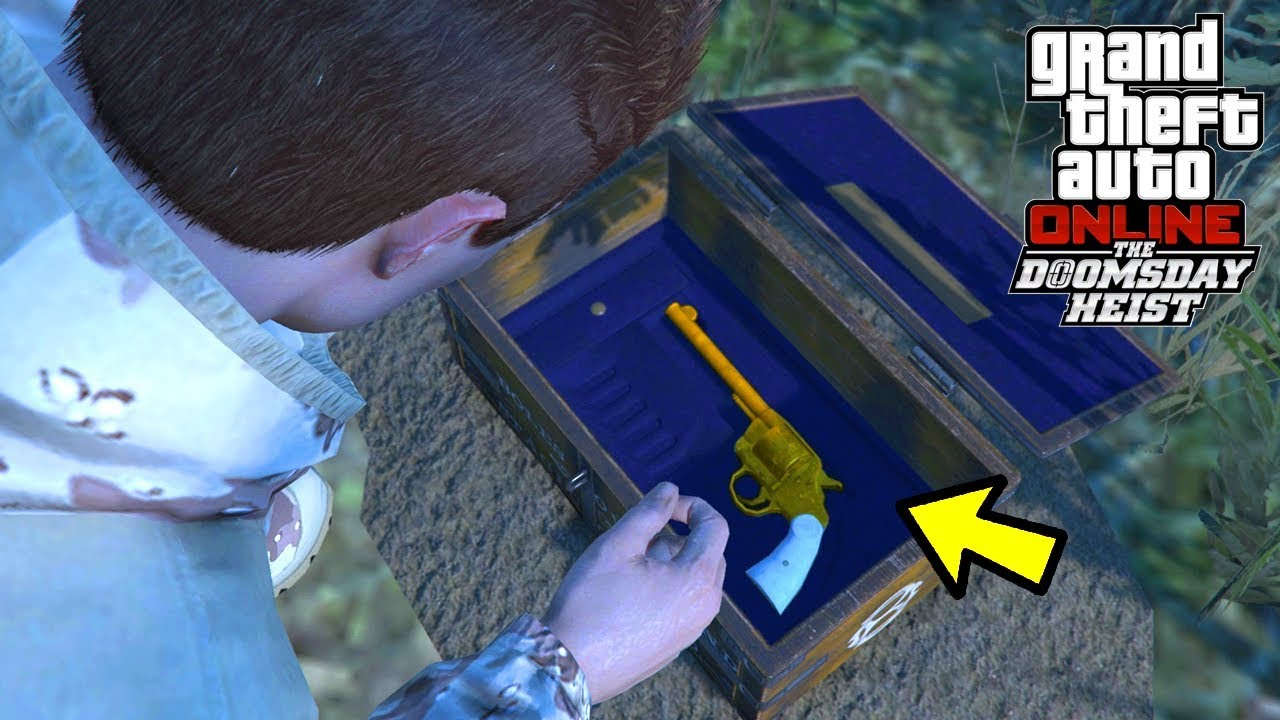 GTA 5 Online - HOW TO COMPLETE THE TREASURE CHEST HUNT & UNLOCK THE NEW DOUBLE-ACTION REVOLVER!