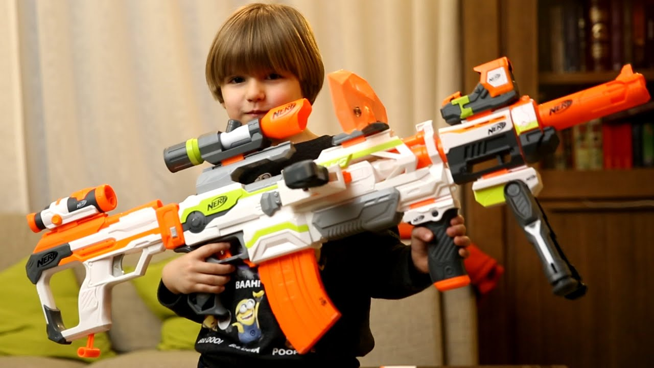 Guns For Boys Christmas Toys : Nerf modulus blaster upgrade kits christmas toys youtube