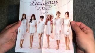 t ara lead the way la boon 初回限定盤a 開封 unboxing