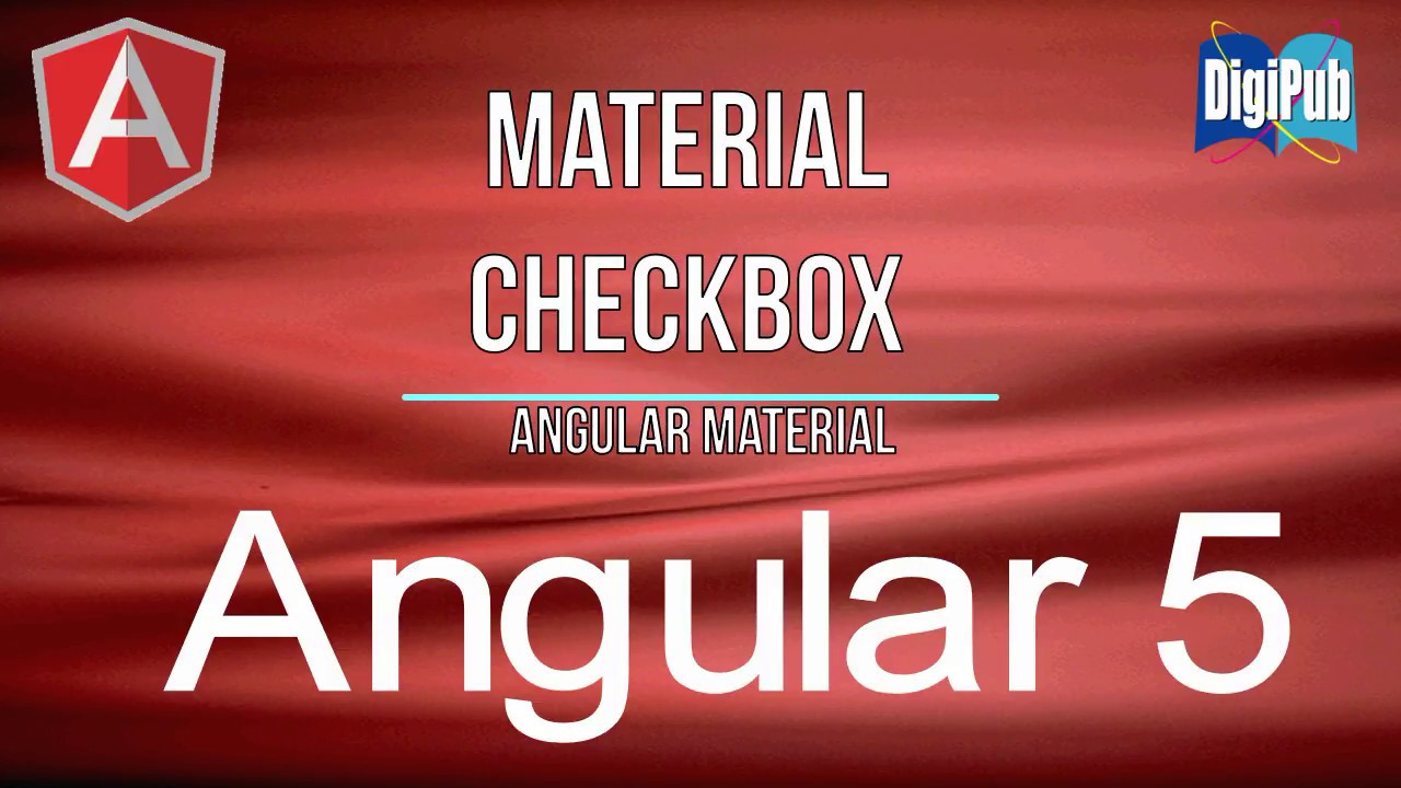 How to use Angular Material Checkbox for Angular5