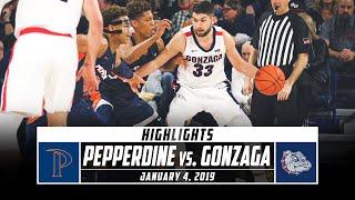 Pepperdine vs. No. 1 Gonzaga Basketball Highlights (2019-20) | Stadium