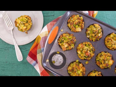 Thanksgiving Stuffing Muffins | Rachael Ray Show