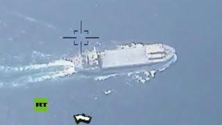 Teherán publica video para desmentir derribo de dron iraní por buque de EE.UU