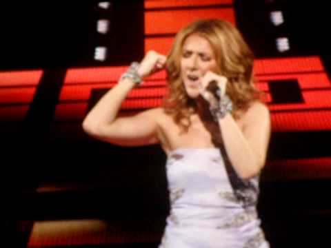 Celine sings 3 songs in Indianapolis 2008