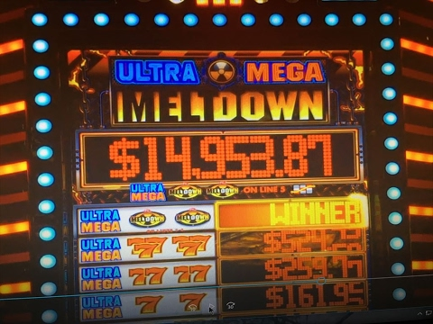 JACKPOT on LIVE★Ultra Mega Melt Down Dollar Slot Max, Lion's Share, Barona Casino, Akafujislot