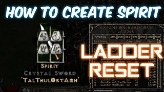 How to: Create Spirit Sword EARLY ON - Diablo 2 - Xtimus
