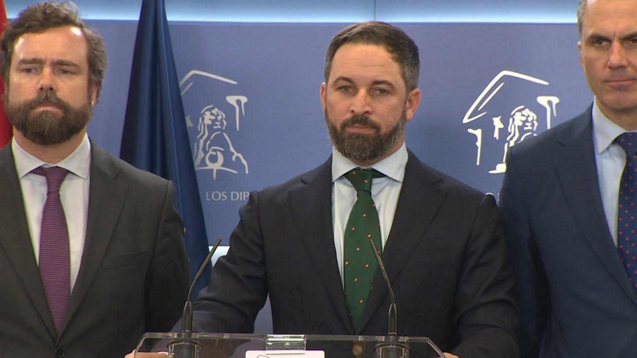 """Resultado de imagen de Abascal tacha de """"fraude electoral"""" el acuerdo entre el PSOE y Podemos"""