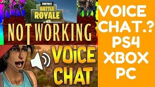 How To Use Voice Chat In Fortnite Mobile + Key Not working on P4, Pc, Iphone, Android, Royale + Xbox