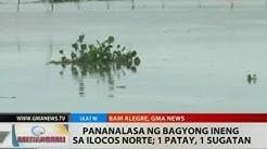 Pananalasa ng Bagyong Ineng sa Ilocos Norte; 1 patay, 1 sugatan