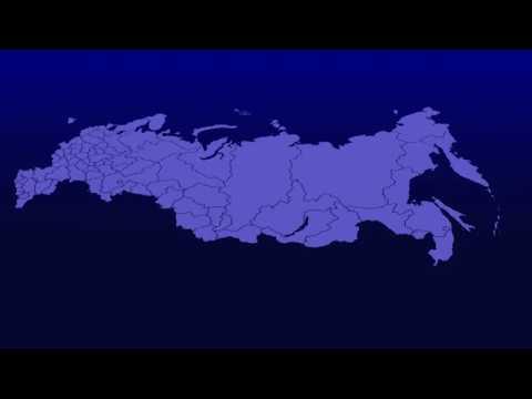 Футаж карта России