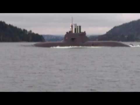 German submarine type 212 visiting Norway 2016-12-11