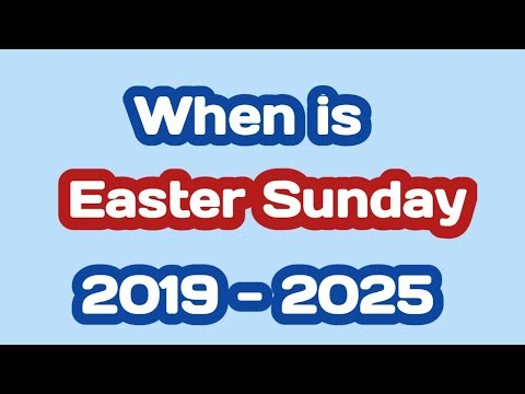Easter Sunday 2019 2020 2021 2022 2023 2024 2025 Date