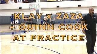 Klay battles Zaza in the low-post after practice + Quinn Cook and other views, day before G2 thumbnail