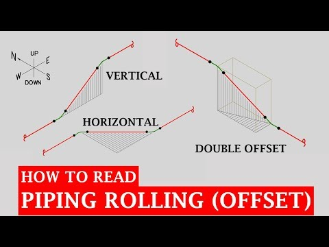 Pipe Rolling Offset | Piping Analysis - YouTube