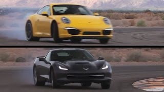 Corvette C7 v Porsche 991 Carrera S. On Track. - /CHRIS HARRIS ON CARS