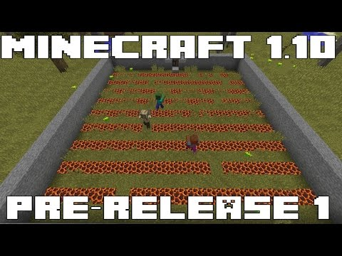 Minecraft 1.10 Pre-Release is out! Lots of Bug Fixes & New teleport command