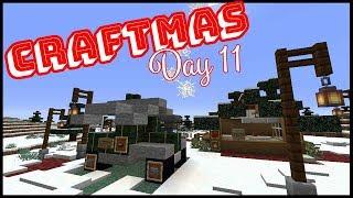 CRAFTMAS DAY 11! - Making Market Stalls & Hangout Spots!