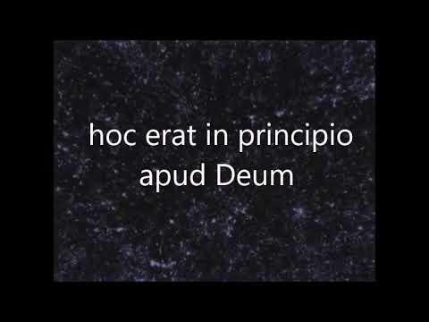 CC Cycle 3, week 16 Latin John 1:1-3 in Latin