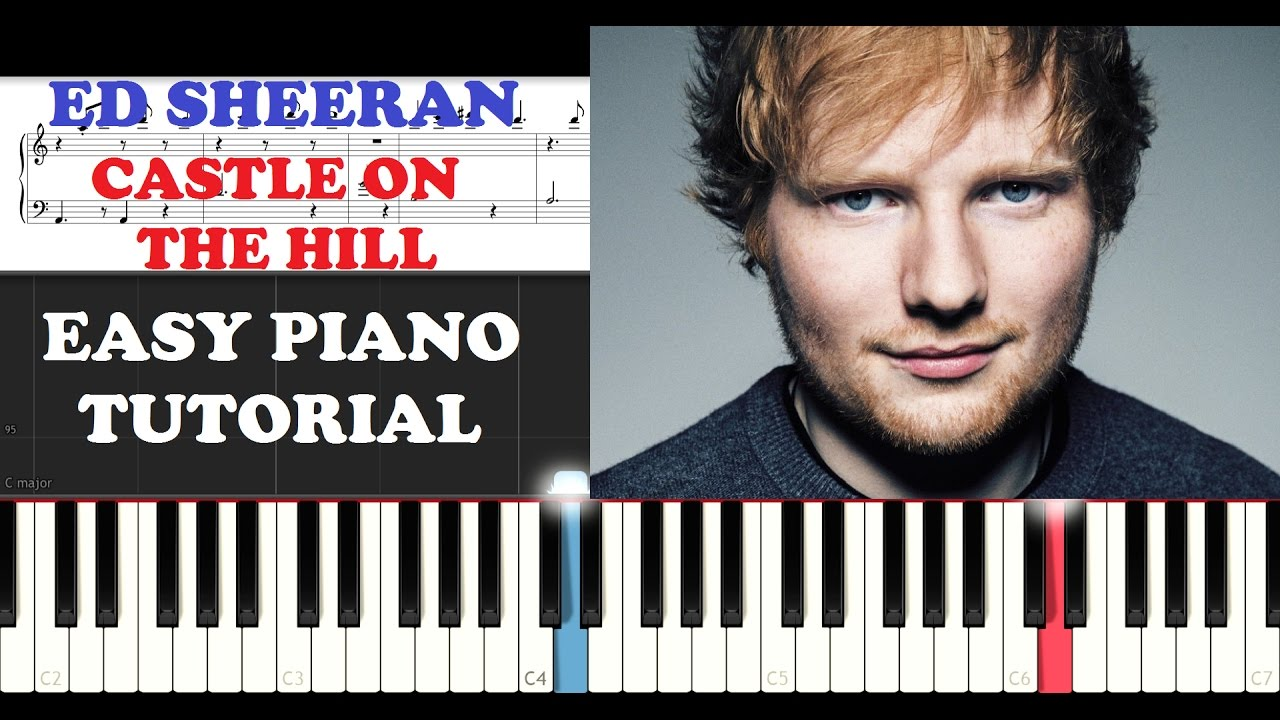 Ed Sheeran - Castle on the Hill (EASY Piano Tutorial )