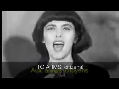 La Marseillaise, sung by Mireille Mathieu. American English subtitles.