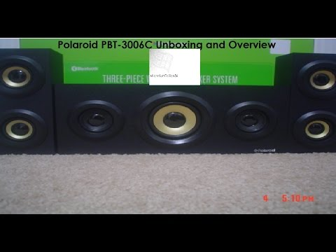 Polaroid PBT3006C 3 Piece Bluetooth Speaker Unboxing and Overview