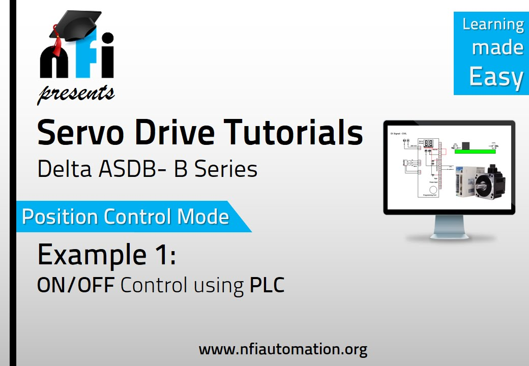 Servo Video Tutorials - Position Mode ON/OFF of Servo Motor by PLC ...