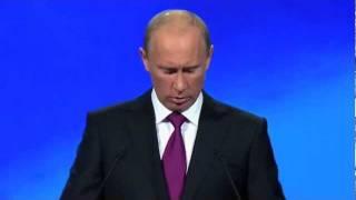 В.Путин-Д.Медведев.Съезд партии Единая Россия.24.09.11.Part 5