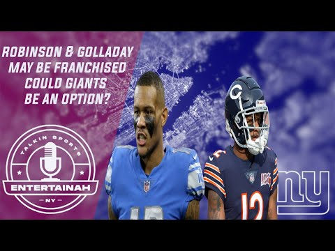 New York GIants   Allen Robinson & Kenny Golladay could be tagged! Tag & Trade? Cap at least 180 mil