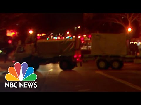 Military Trucks Block Roads To U.S. Capitol In Stepped Up Security Measures Ahead Of Inauguration