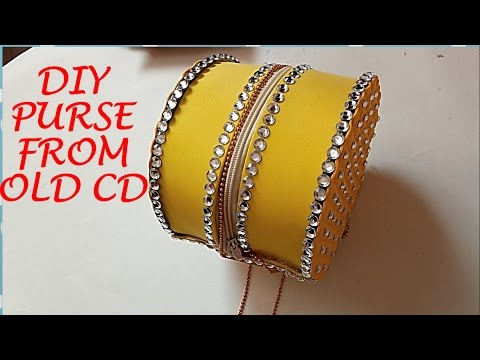DIY PURSE FROM OLD CD/DVD!!❤❤Super Simple crafts ❤❤|Recycling crafts ||