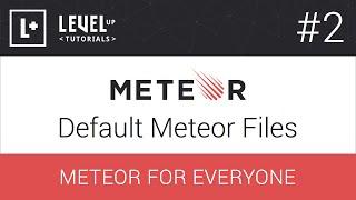 Meteor For Everyone Tutorial #2 - Default Meteor Files