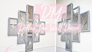 Diy Large Wall Decor | Glam Mirror Panels | Diy Dollar Tree Decor | Wall Decor | Diy Room Decor