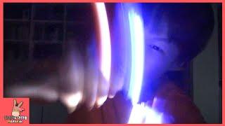 손에서 빛이 나온다! 레이저 반지 댄스 타임  ♡ 신기한 어린이 장난감 놀이 Laser ring toys dance play for kids | 말이야와아이들 MariAndKids