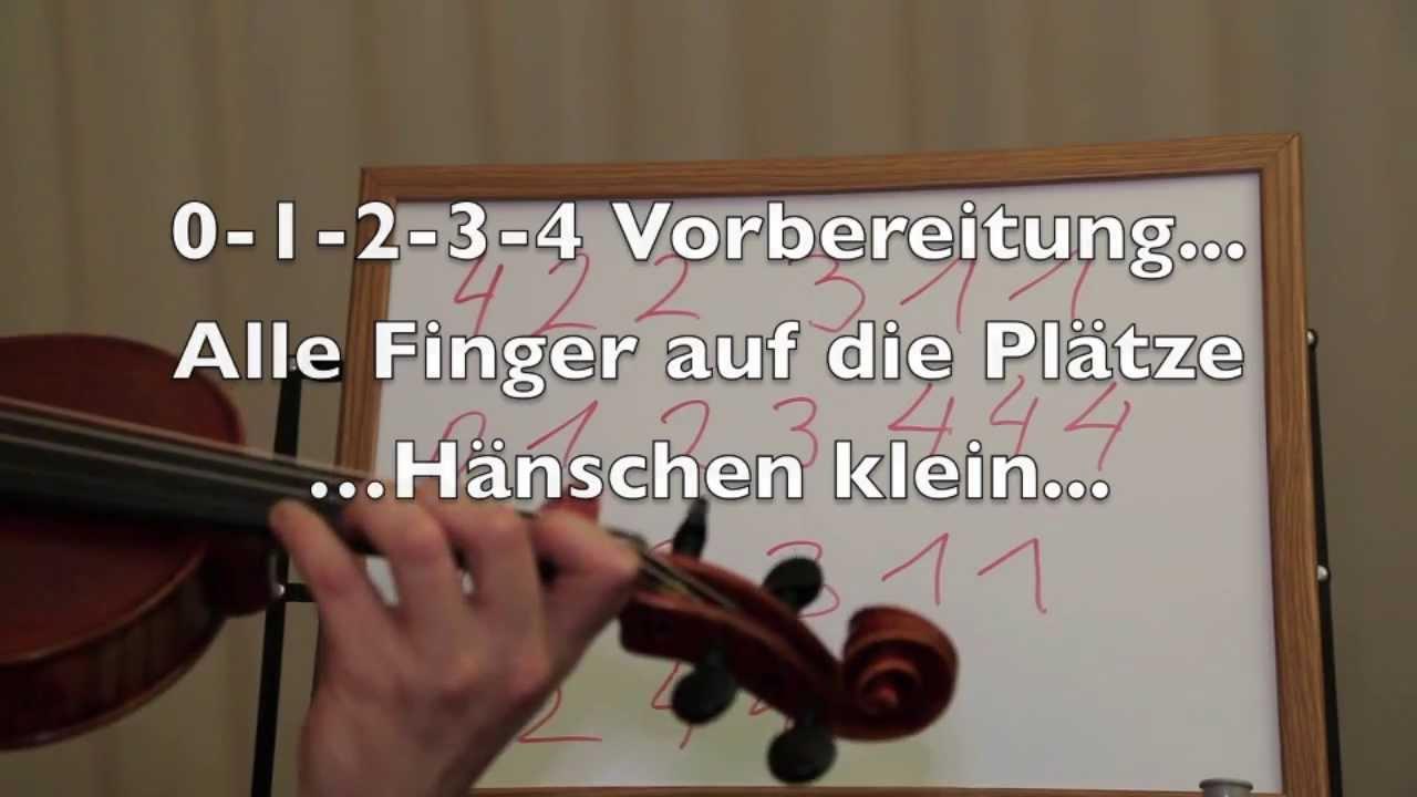 Die erste Griffart auf der Geige / Violine, Noten, Fingersatz, erste ...