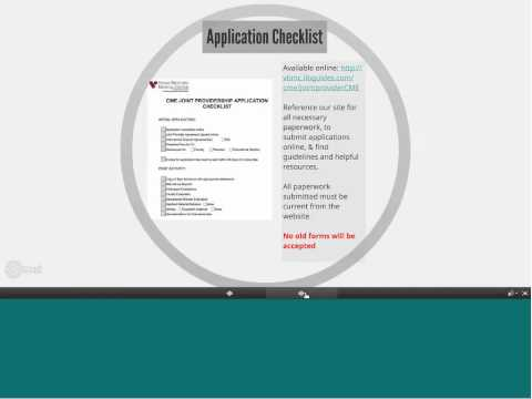 Overview of Joint Provider Application Process