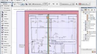 Перенос планировки, с листка в ArchiCAD. Практический видеоурок.(Подпишитесь на уроки по ArchiCAD здесь - http://podpiska.archicad-master.ru/, 2013-12-13T11:06:41.000Z)