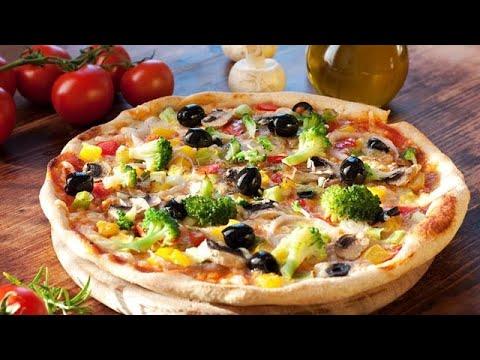 صورة  طريقة عمل البيتزا طريقة عمل بيتزا سريعة التحضير بعجينة العشر دقائق طعم ولا أروع Vegetable Pizza طريقة عمل البيتزا من يوتيوب