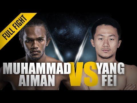 ONE: Full Fight | Muhammad Aiman vs. Yang Fei | A Dominant Striking Display | November 2017