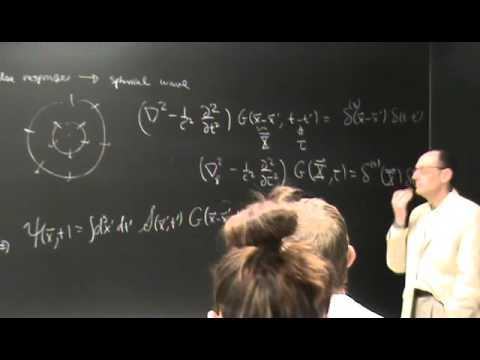 UNM EM511   Lecture22   Potential Formulation, Gauge Transformations, Green's Function for Wave Equa