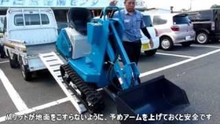 Repeat youtube video 超小型!ヤマグチ ショベル付動力運搬車 YXS-111X