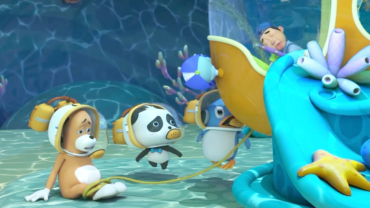 Rescue Mr.Dao's Master | The Submarine is Leaking | Baby Panda's Magical Chinese Character