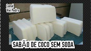 SABÃO DE COCO COM BICARBONATO SEM SODA
