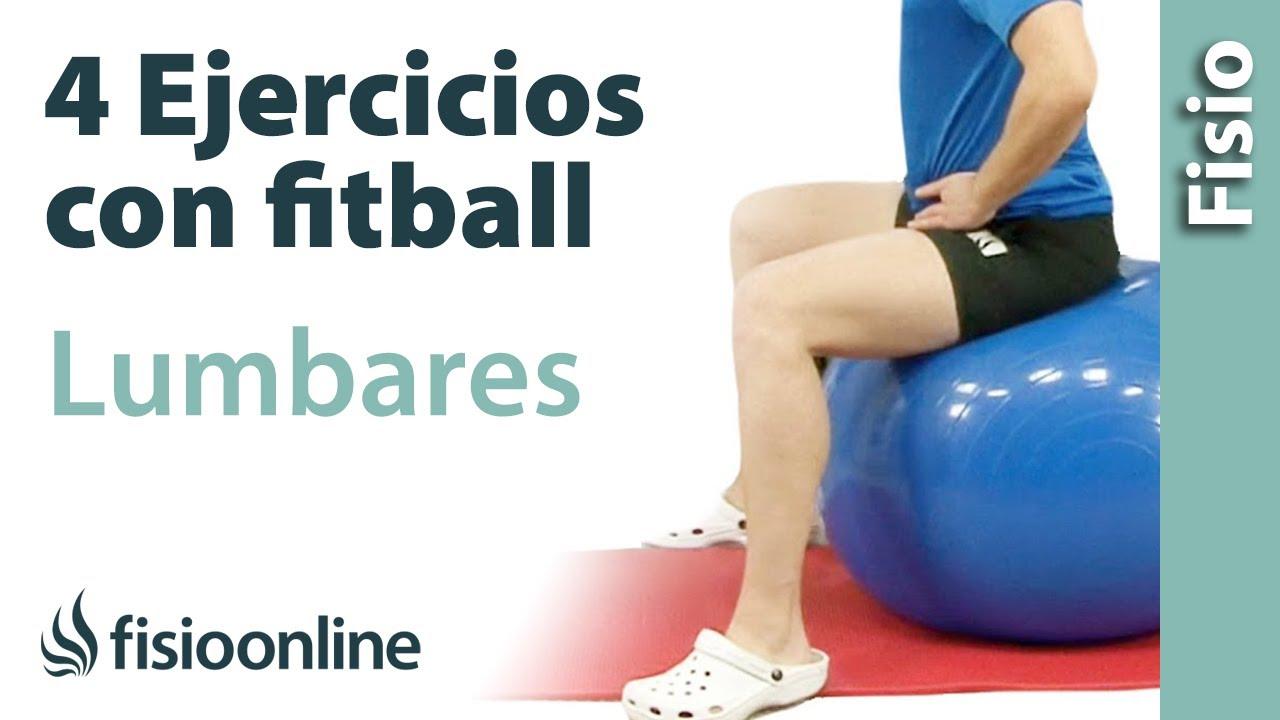 4 ejercicios con pelota de Fitball o Pilates para trabajar las lumbares e13377b6bb89