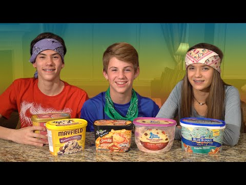 Ice Cream Challenge!  (MattyBRaps vs Jack & Kate)