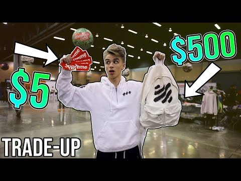 Trading a $5 Supreme Sticker to a $500 Off White Backpack!